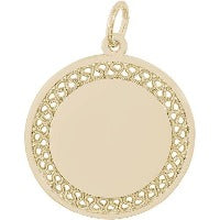 14K Yellow Gold Disc Charm