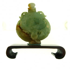 Natural Jade Carving on Stand