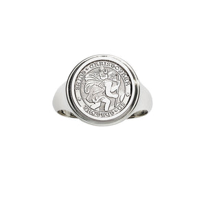 Sterling Silver St. Christopher Ring, SOLD