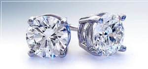 Deleuse Diamond Earrings, .19cts. total weight
