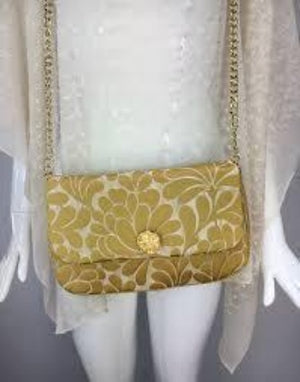 Silk Brocade Bag With Chain Strap,SALE