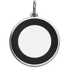 Sterling Silver Disc with Black Enamel, SOLD OUT