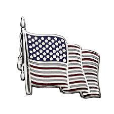 Sterling Silver USA Flag PIn, SOLD