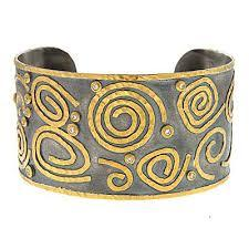 Sterling Silver and Gold Cuff Bracelet, SOLD