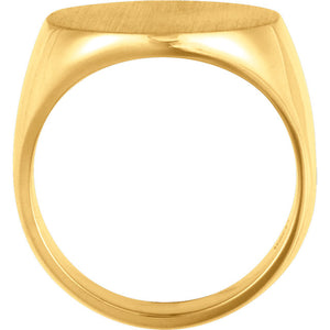 14K Gold Mens Signet Ring