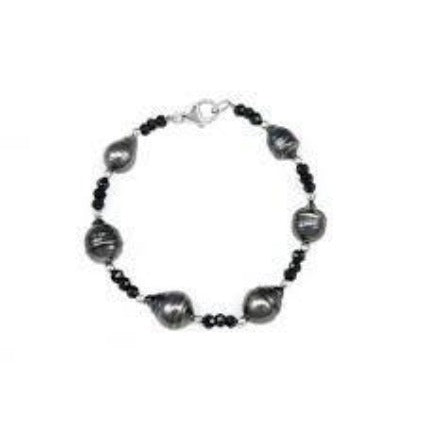 Tahitian Pearls and Onyx Bracelet, SOLD