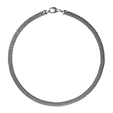 Textured 14K White Gold Chain