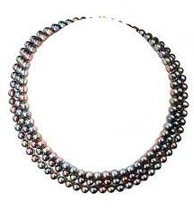 Triple Strand Cultured Pearl Choker, SOLD