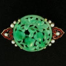 Vintage Natural Jade Pin, SOLD