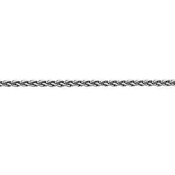 18K White Gold Wheat Link Chain, SOLD