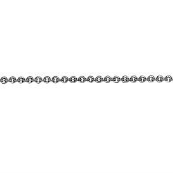 18K White Gold Link Chain, SOLD