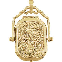 Gold Swivel Locket