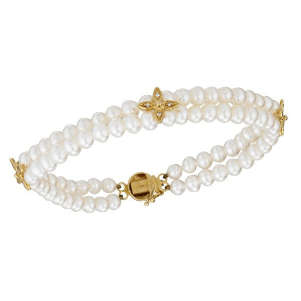 Freshwater Pearl Bracelet with Diamonds, SALE, SOLD