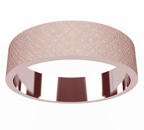 Flat Engraved Band in 14K Rose, Yellow or White Gold