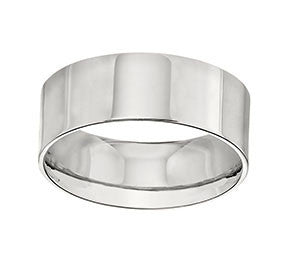 18K Yellow or Rose or White Gold Flat Wedding Band
