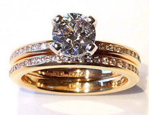 Deleuse Designer Diamond Engagement Ring