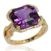 Goshwara Designer Amethyst and Diamond Ring, SOLD OUT