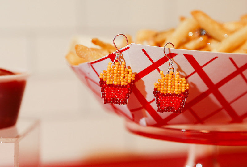 Bellingham Fat Shack fries with Moody and Co. earrings