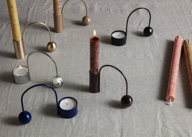 Balance Candle Holder | Dark Aubergine