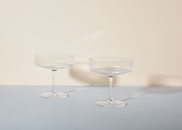 Ripple Champagne Saucers | Set Of 2