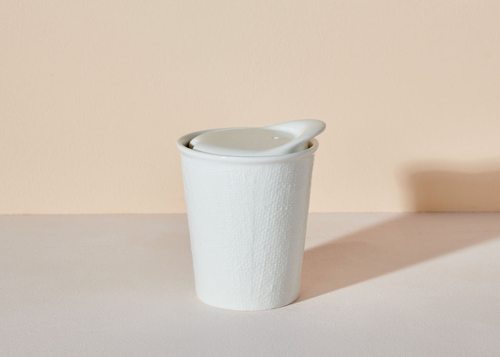 It's A Keeper Ceramic Cup • White Linen