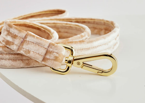 Velvet Dog Leash | Peach