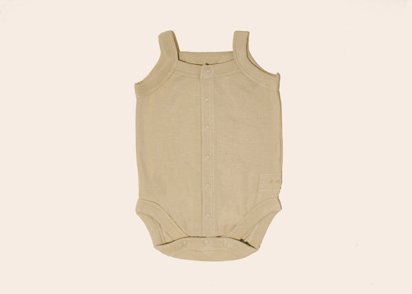 Organic Tank Top Suit • Milk Tea