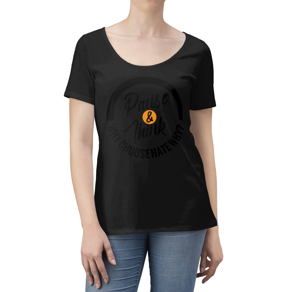 Women's Pause & Think Scoop Neck T-shirt