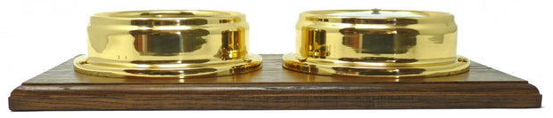 Handmade Solid Brass Tide Clock and Traditional  Barometer Mounted on a Double English Oak Wall  Mount