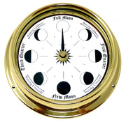 Handmade Solid Brass Moon Phase Clock