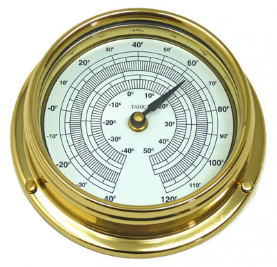 Handmade Solid Brass Thermometer
