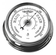 Handmade Traditional Barometer in Chrome with White Dial.