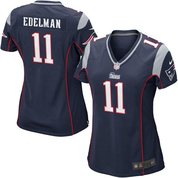 Women's New England Patriots Julian Edelman Nike Navy Blue Game Jersey