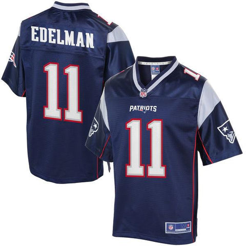 Youth New England Patriots Julian Edelman NFL Pro Line Navy Team Color Jersey