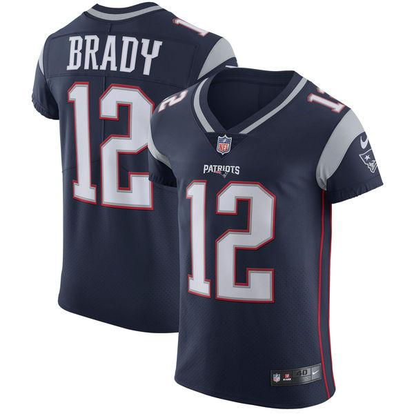 Men's New England Patriots Tom Brady Nike Navy Vapor Untouchable Elite Player Jersey