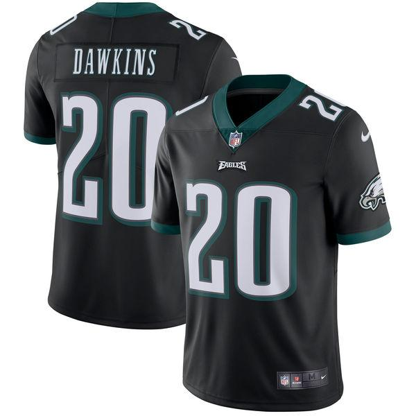 Men's Philadelphia Eagles Brian Dawkins Nike Black Retired Player Vapor Untouchable Limited Throwback Jersey