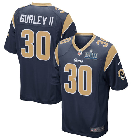 Todd Gurley II Los Angeles Rams Nike Super Bowl LIII Bound Game Jersey – Navy