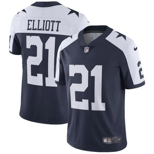 Men's Dallas Cowboys Ezekiel Elliott Nike Navy Alternate Vapor Untouchable Limited Player Jersey
