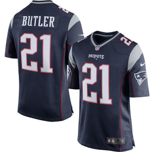 Youth New England Patriots Malcolm Butler Nike Navy Game Jersey