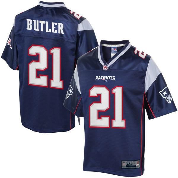 NFL Pro Line Mens New England Patriots Malcolm Butler Big & Tall Team Color Jersey