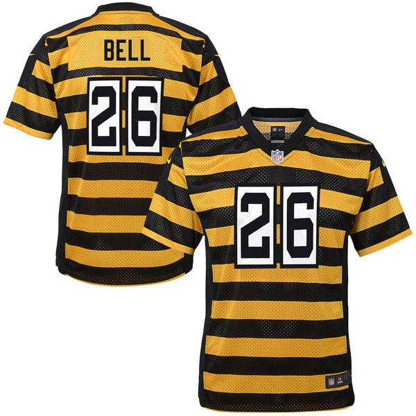Youth Pittsburgh Steelers Le'Veon Bell Nike Gold Alternate Game Jersey