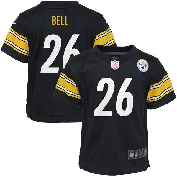 Toddler Pittsburgh Steelers Le'Veon Bell Nike Black Game Jersey