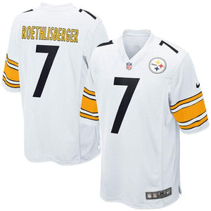 Mens Pittsburgh Steelers Ben Roethlisberger Nike White Game Jersey