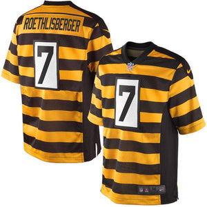 Mens Pittsburgh Steelers Ben Roethlisberger Nike Black/Gold Elite Jersey