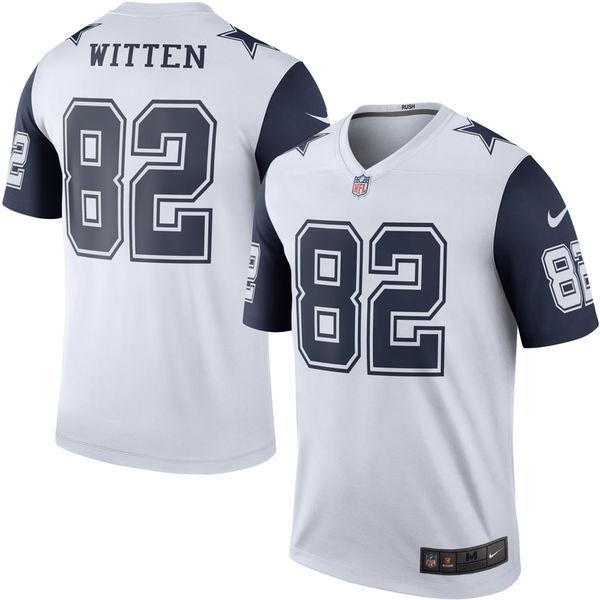 Men's Dallas Cowboys Jason Witten Nike White Color Rush Legend Jersey