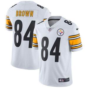 Men's Pittsburgh Steelers Antonio Brown Nike White Vapor Untouchable Limited Player Jersey
