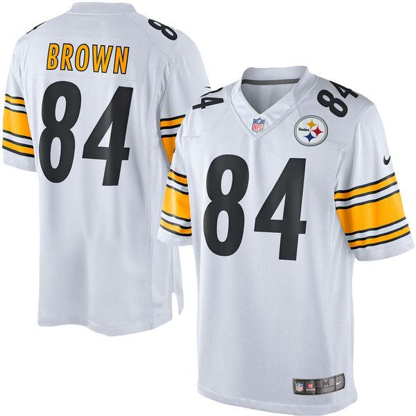 Men's Pittsburgh Steelers Antonio Brown Nike White Limited Jersey