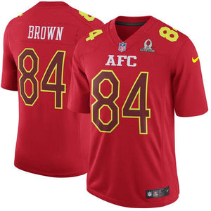 Men's AFC Antonio Brown Nike Red 2017 Pro Bowl Game Jersey