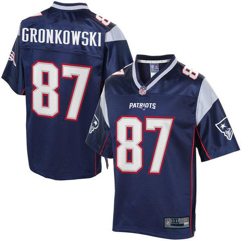 NFL Pro Line Mens New England Patriots Rob Gronkowski Big & Tall Team Color Jersey