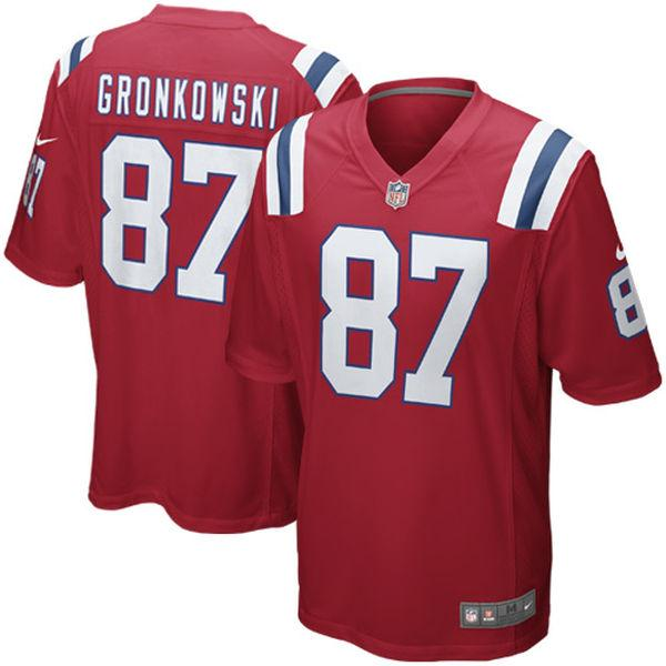 Youth New England Patriots Rob Gronkowski Nike Red Alternate Game Jersey